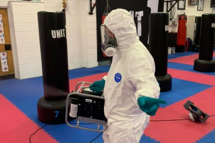 Fogging for business premises. Unit 1 Martial Arts and Fitness use fogging services to protect their customers.