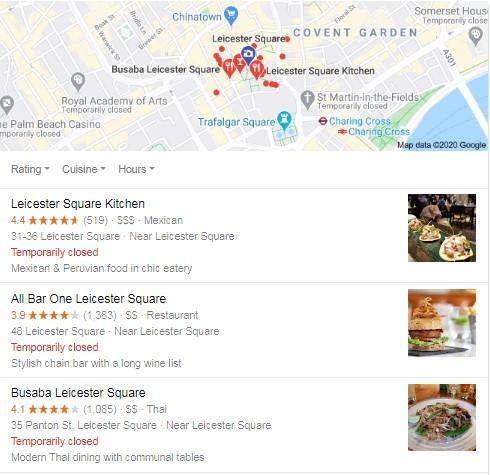 Google Adwords in convent Garden