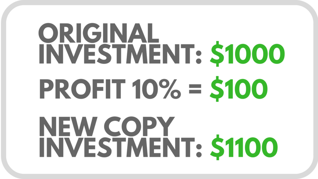 Copytrading investment growth