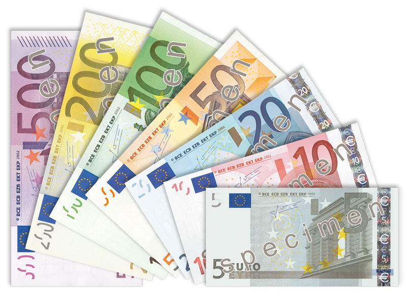 A picture of euros being fanned out - uploading money can be frightening