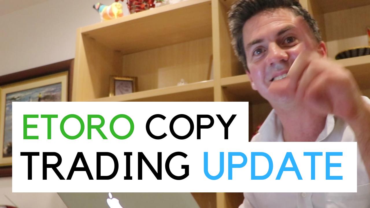 Me doing an Etoro copy trading update in december 2018
