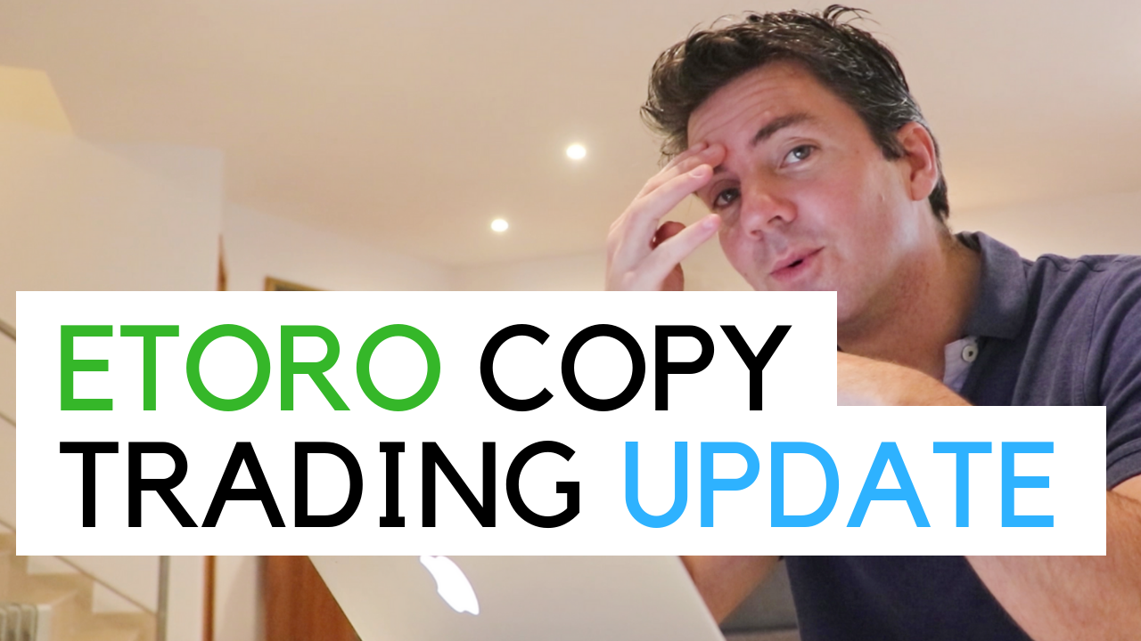 copy Trading update - me at a desk looking a little worried...