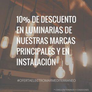 10% de descuento en luminarias