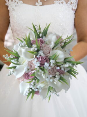 artificial bridal flowers silk fake bouquets for weddings