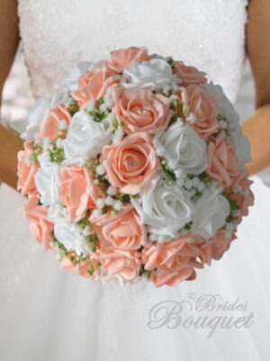 artificial wedding bouquets rose and gyp silk bridal brides flowers