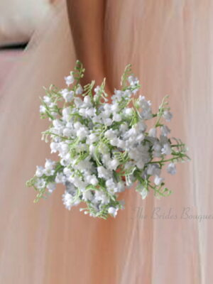 artificial wedding flowers lily of the valley posy