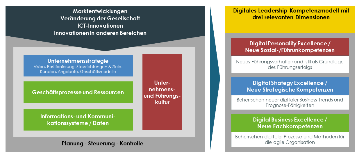 Digital Leadership Exzellenz - Transformationsebenen