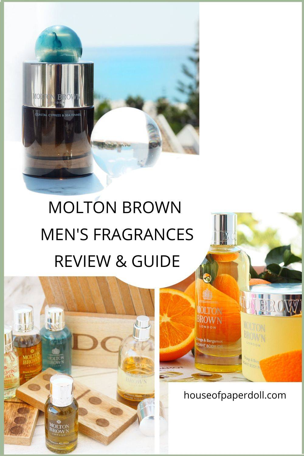 MOLTON BROWN MENS FRAGRANCES AND GUIDE