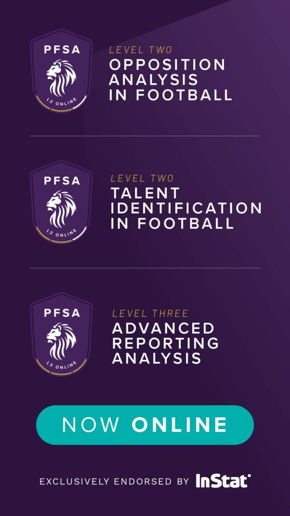 The PFSA Level 2 Talent Identification In Football is now online