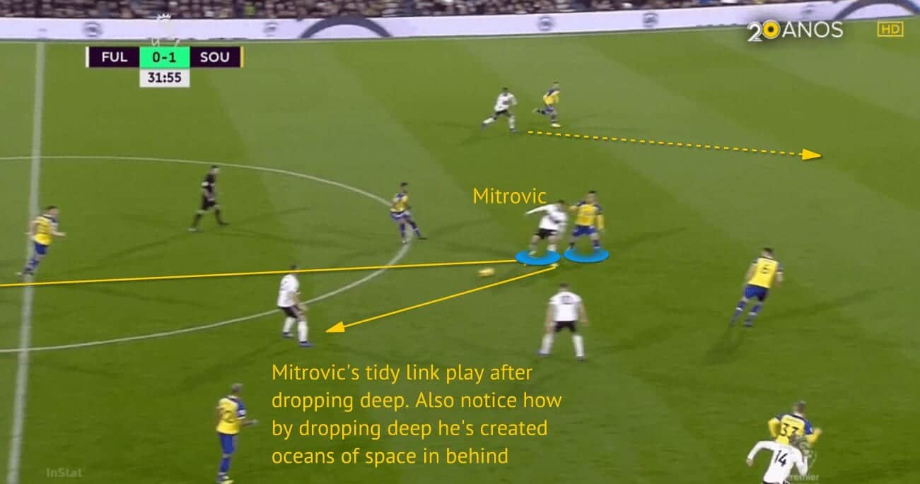 Mitrovic linking play and creating space