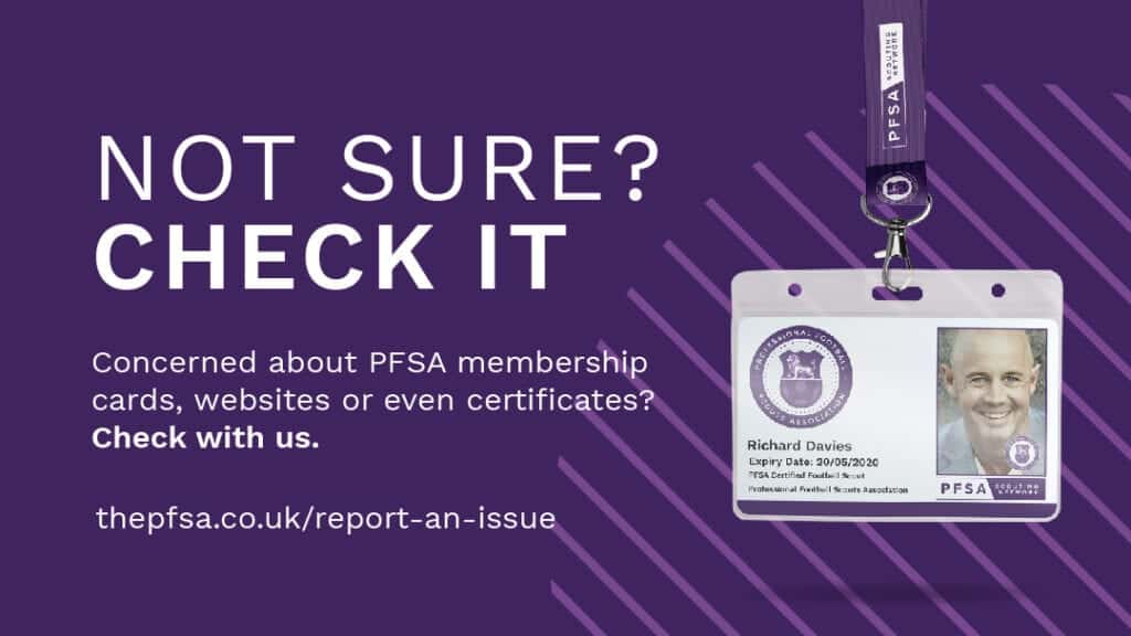 Worried about the authenticity of a PFSA member card or certificate? Then check with the PFSA
