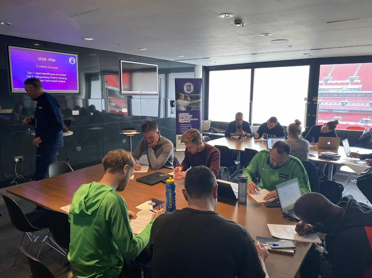 The PFSA Level 2 Scouting Course at UCFB at Wembley