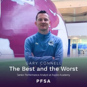 THE BEST AND THE WORST… corners with Gary Connell Senior Performance Analyst at Aspire Academy
