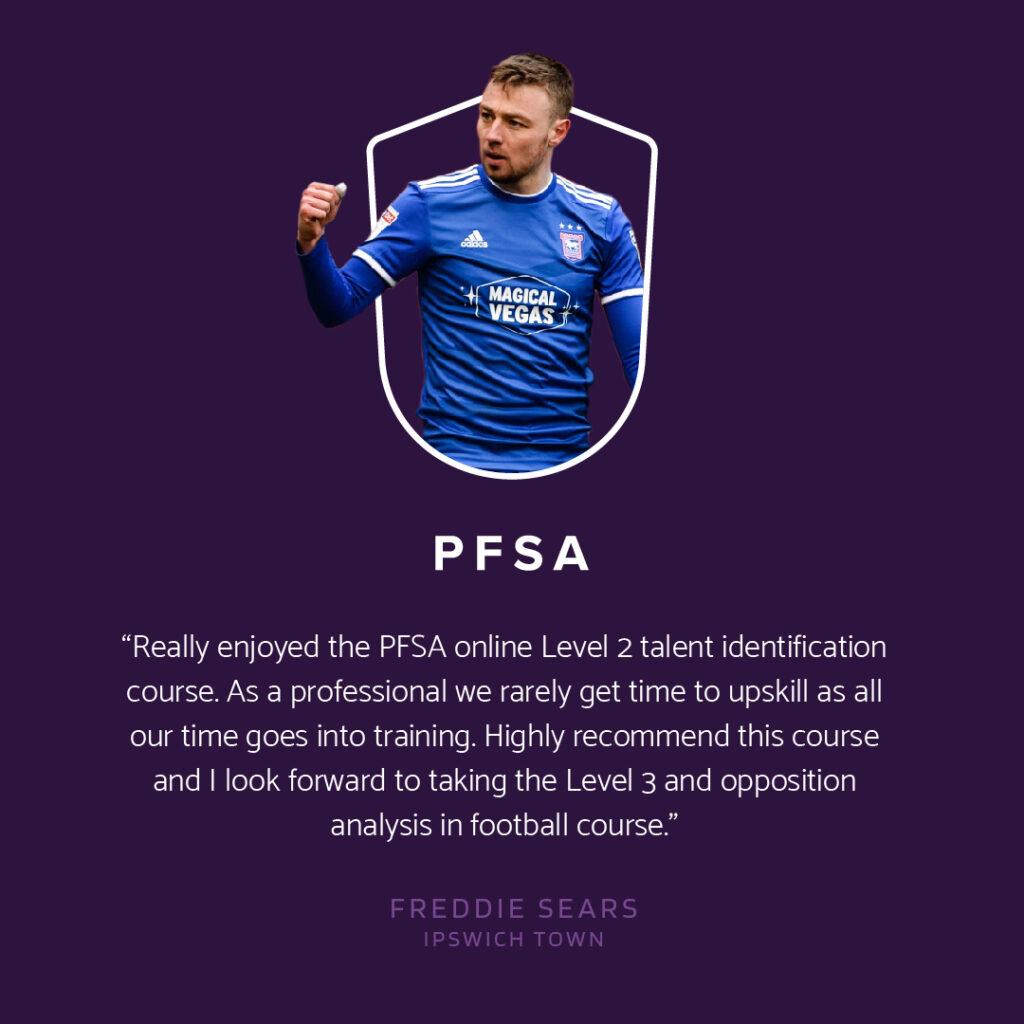 PFSA Testimonial Freddie Sears