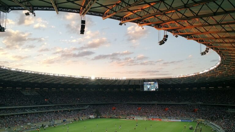 A view of a football match from the stands