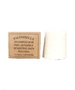 Champú sólido para cuero cabelludo sensible Paloma con caja