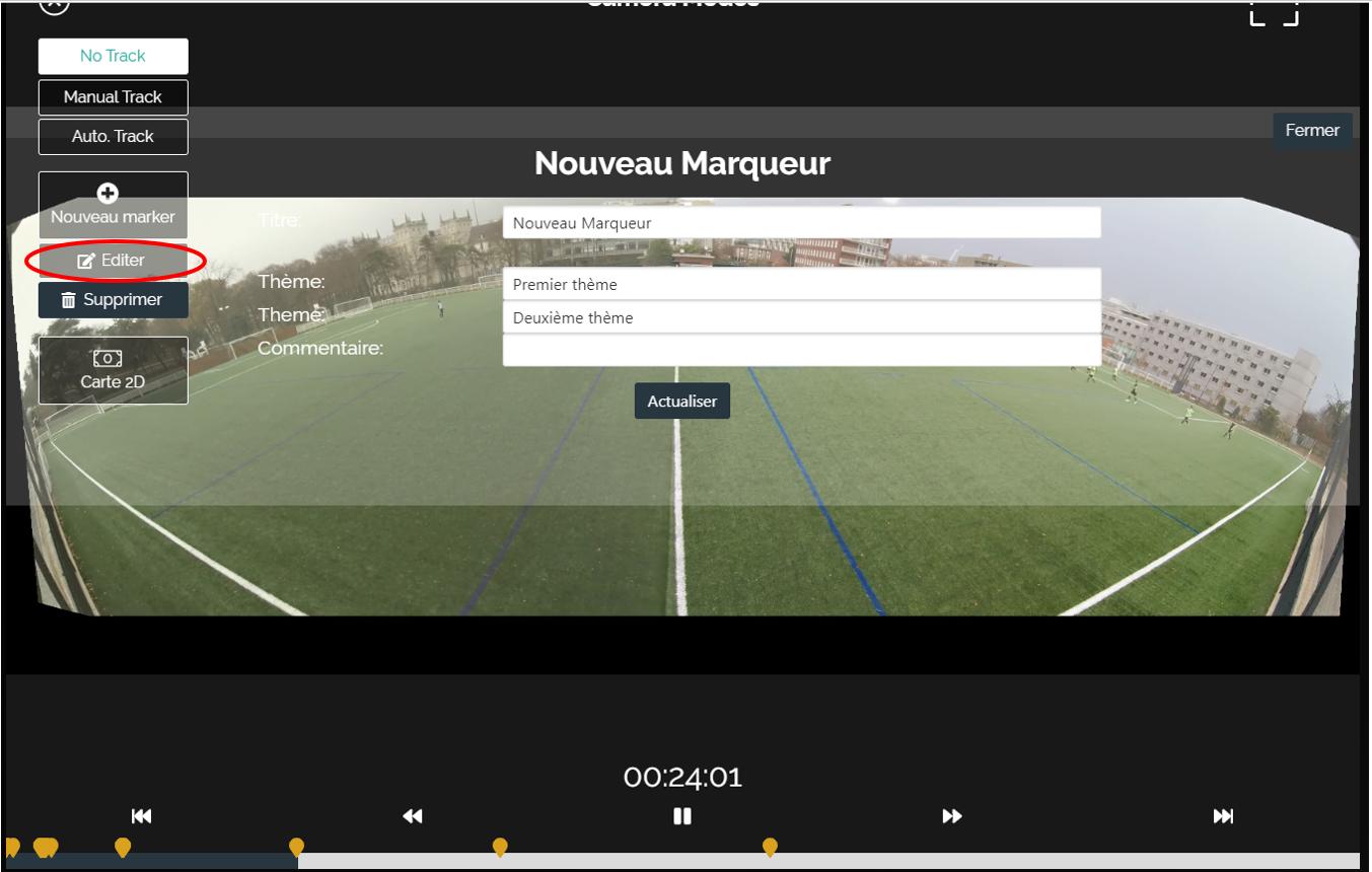 Caméra filmer football analyse vidéo match