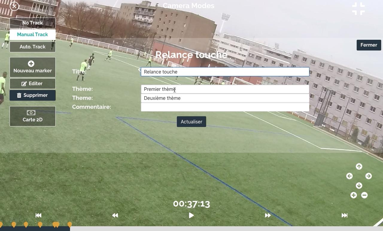 Football analyse match entrainement caméra