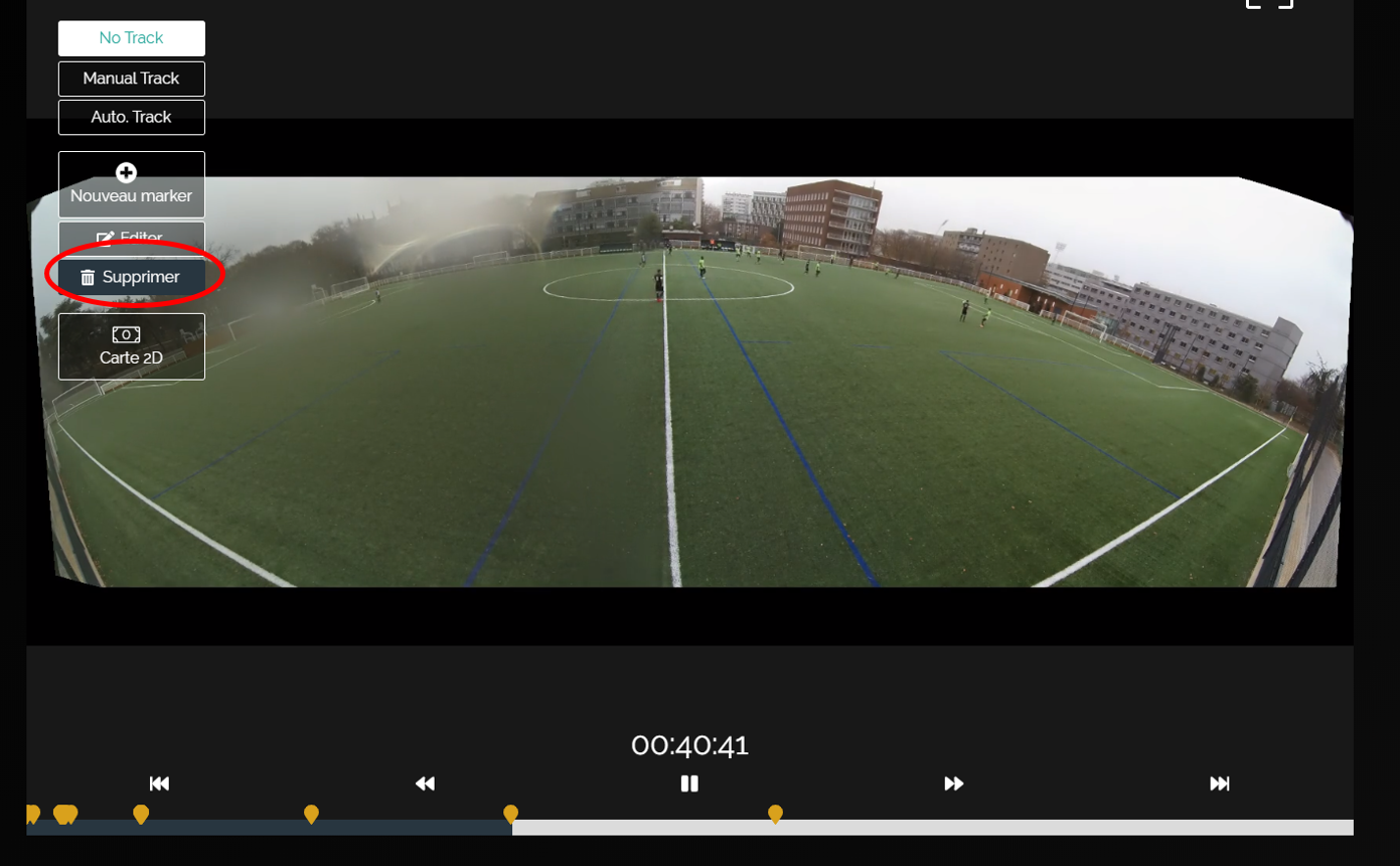 Filmer match caméra vidéo analyse