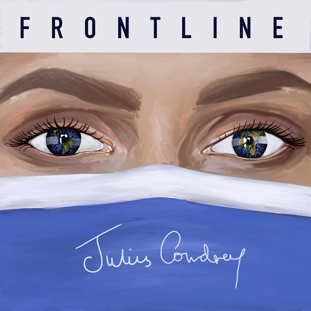 The cover for Julius Cowdrey's song: Frontline