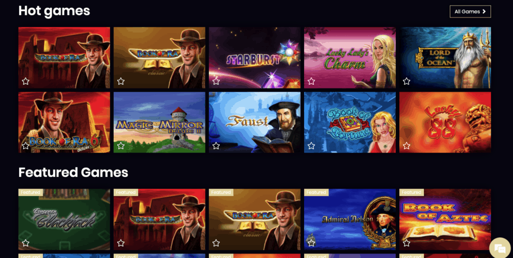 4 Crowns Casino games