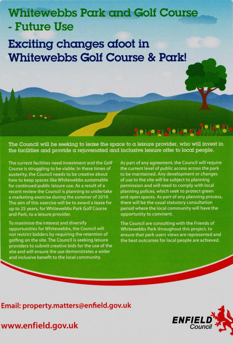 Proposals for changes to Whitewebbs Park