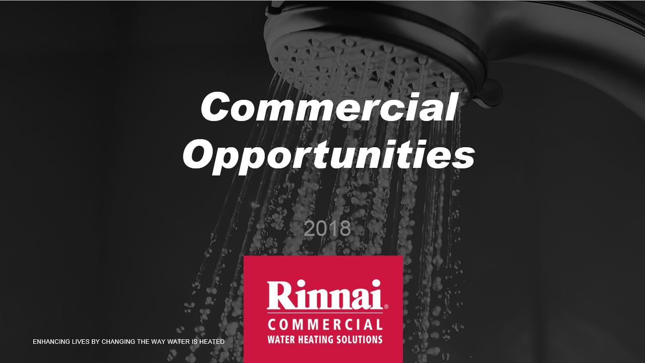 Rinnai Commercial Water Heating Solutions