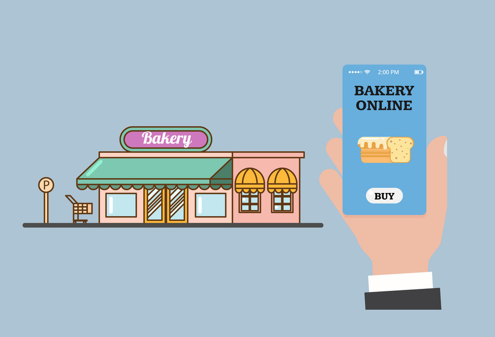 How can I promote my offline bakery business into an online business?