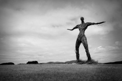 Wicker Man Music Festival sculpture, Dumfries and Galloway, Scotland