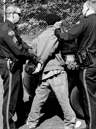Street arrest, Georgia/US