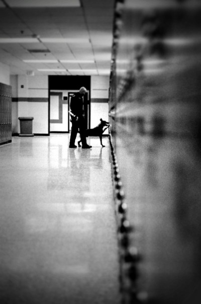 Drug search at a school in Georgia