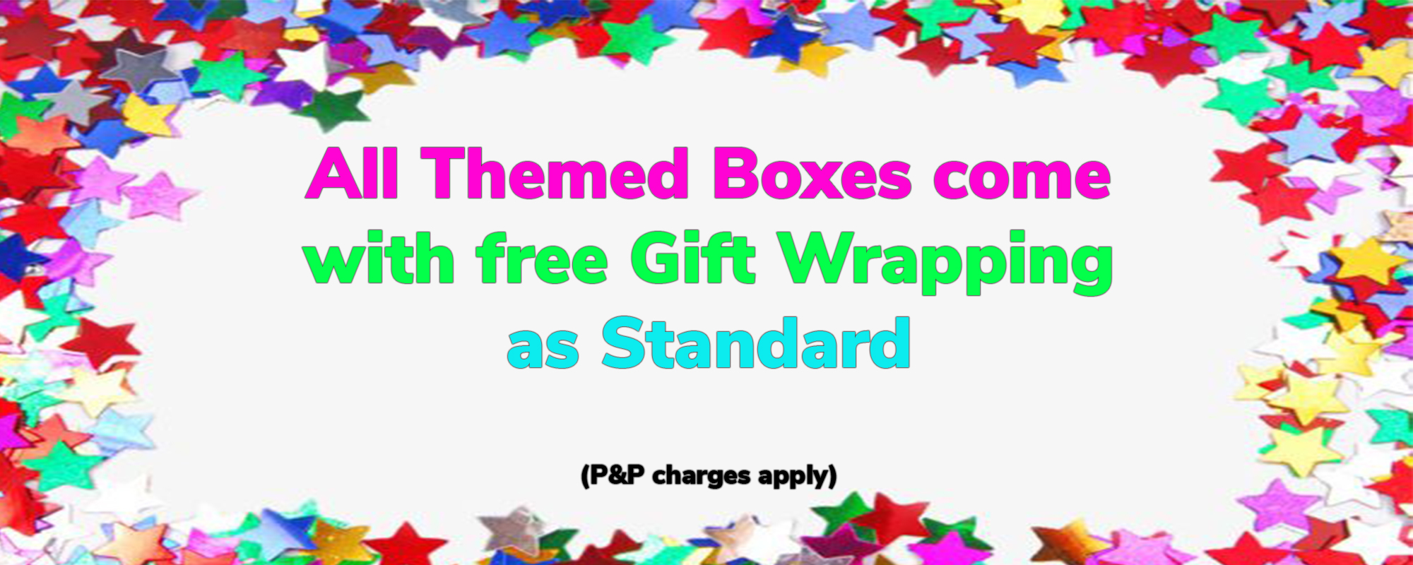 Themed boxes free giftwrap