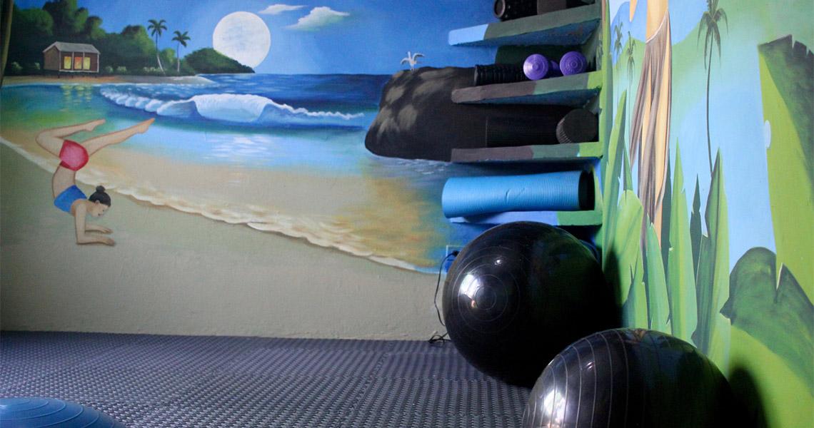 Playgrounds Surf Camp Nicaragua Yoga / Warm up Room