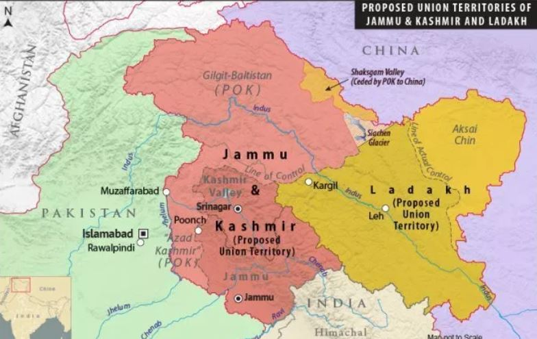 Maps of The Union Territories of Jammu & Kashmir and Ladakh (Proposed)