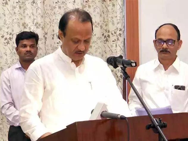 ajit pawer take oath as CM