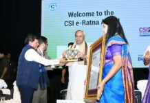 CM receives CSI E-Ratna Award