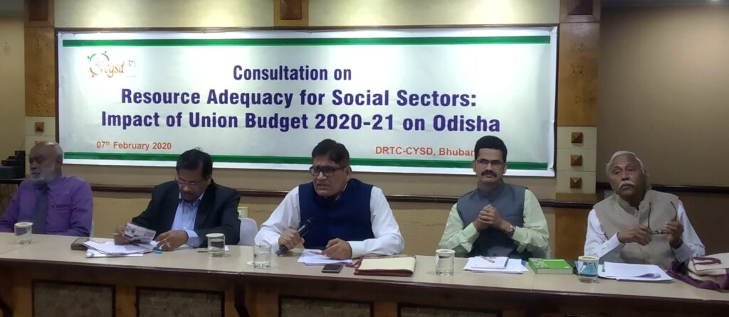 Union Budget 2020-21 Consultation CYSD