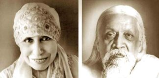 Shri Ma and Shri Aurobindo together
