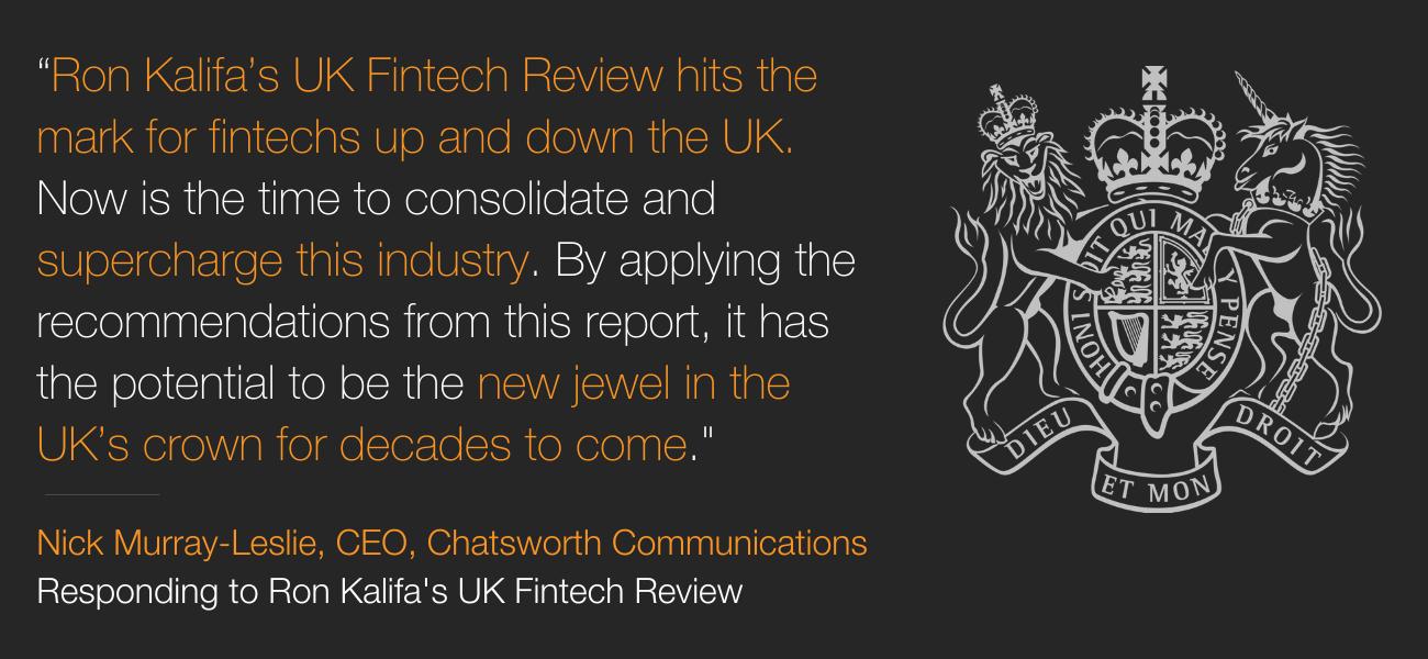 Ron Kalifa UK Fintech Review