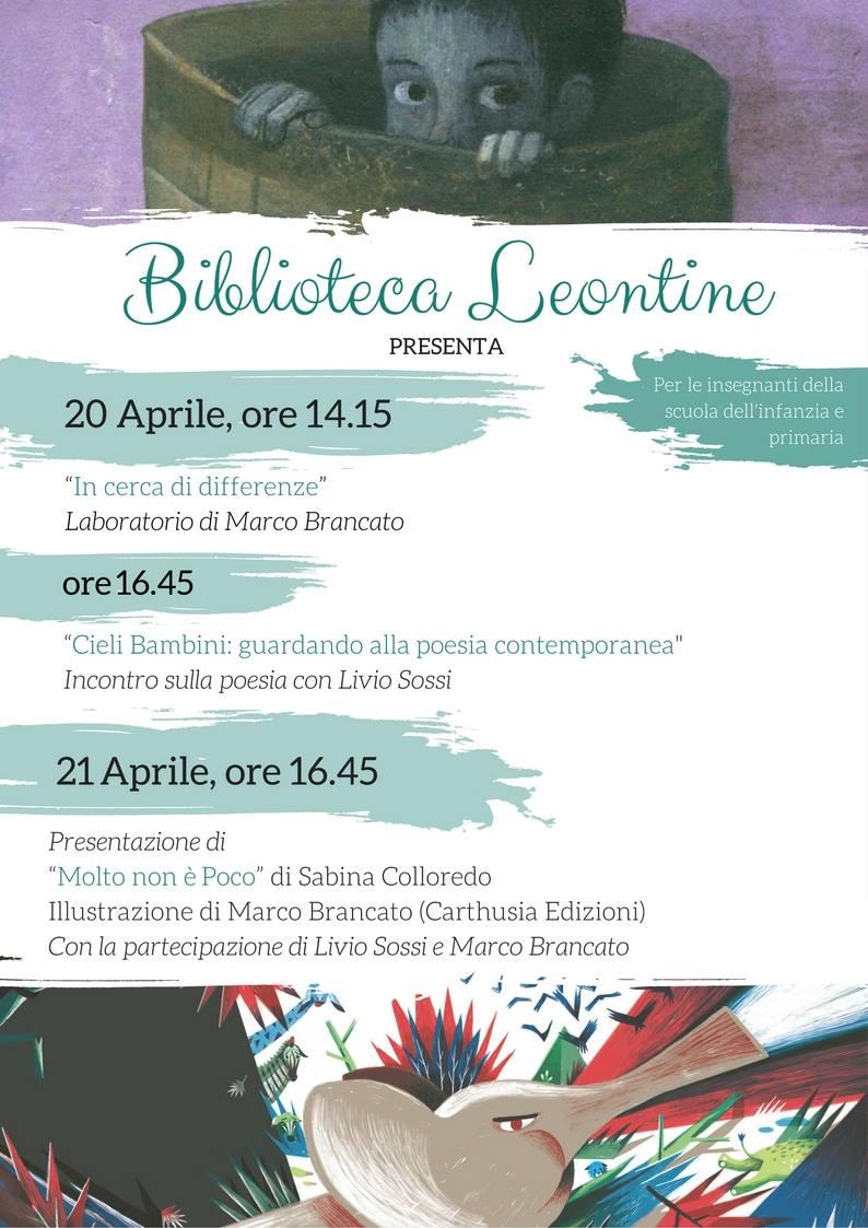Aprile alla Biblioteca Leontine di Sassuolo