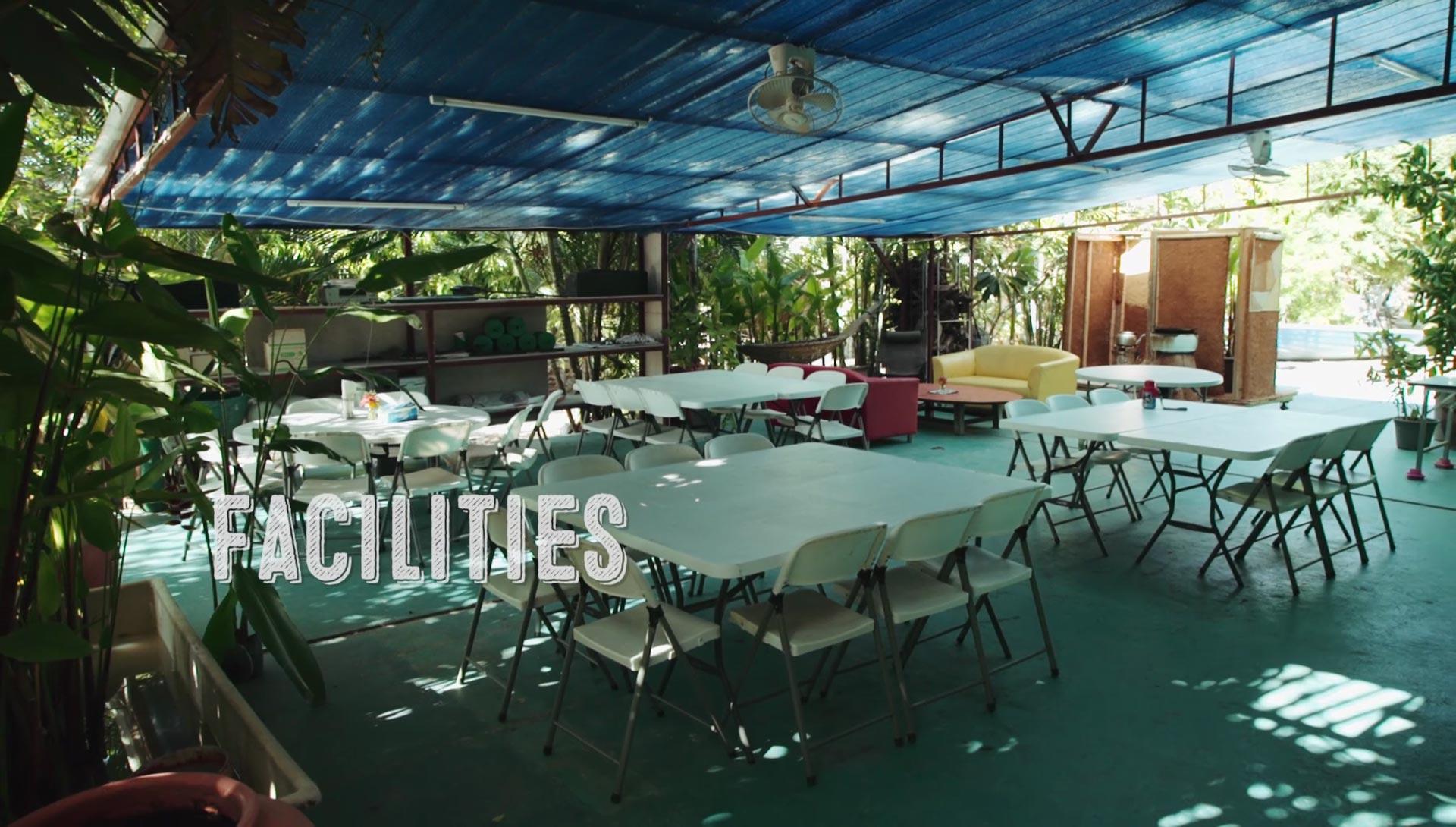 The cafeteria at Daruma ecovillage back in 2015.