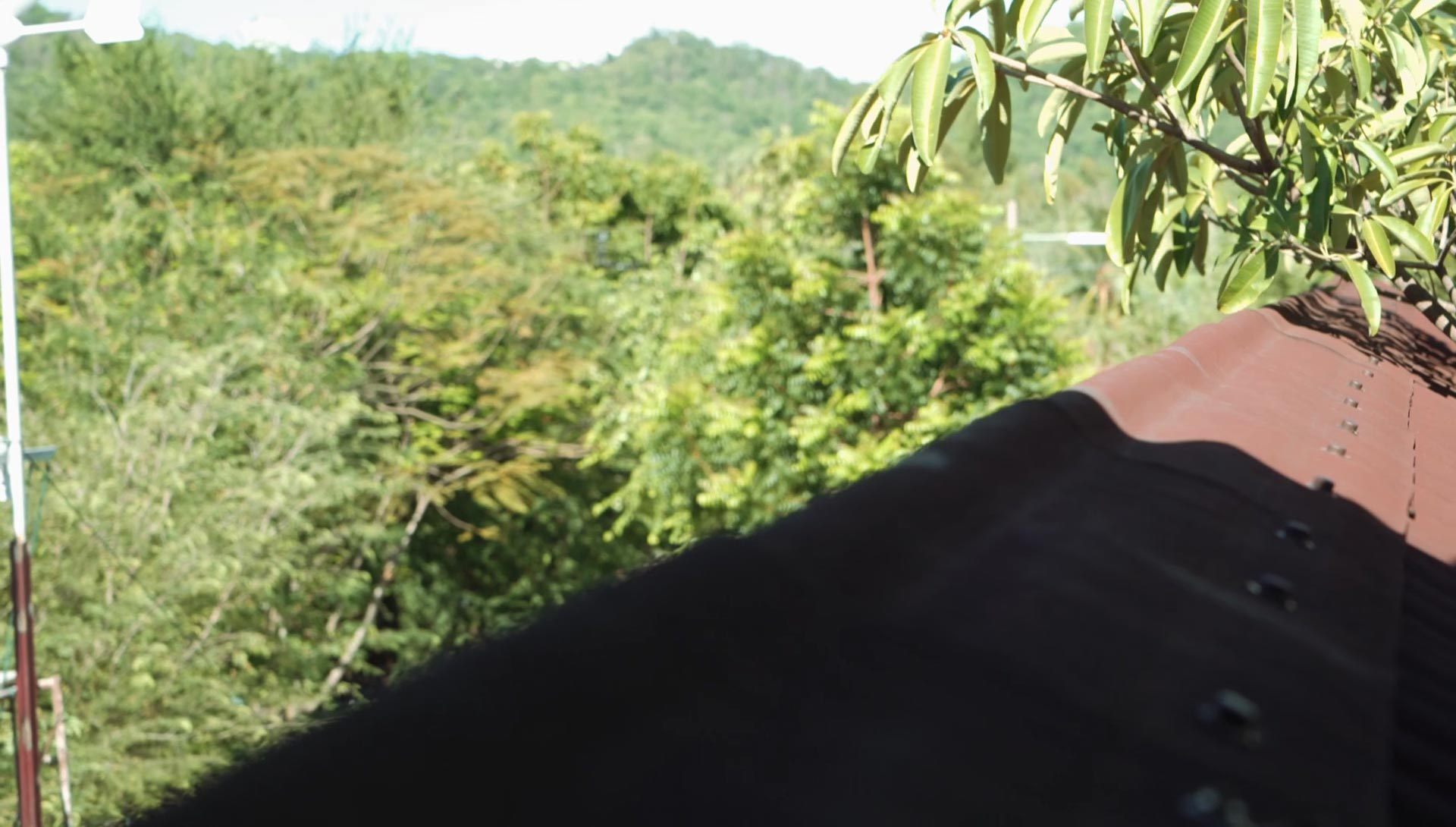 Views of the mountains in the distance to be had during your permaculture course, Thailand