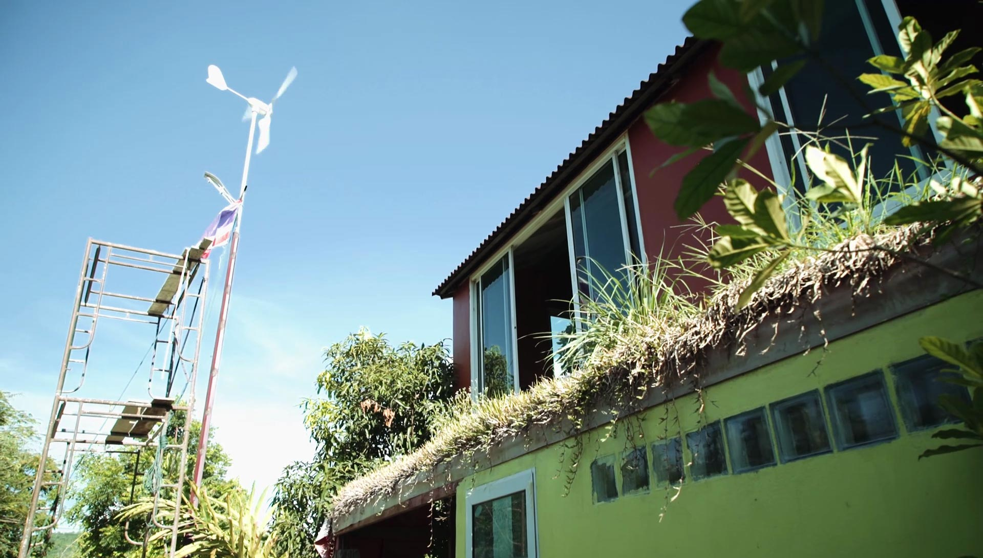 Completely self-sufficient here at Daruma ecovillage on wind-power alone! ;-)