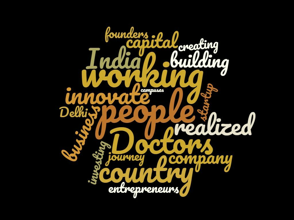 Word Cloud for Episode 7: Ritesh of Innov8: Funding amazing ideas