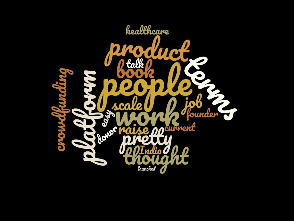 Word Cloud for Episode 19: Varun of Ketto on harnessing's Internet to solve people's problems