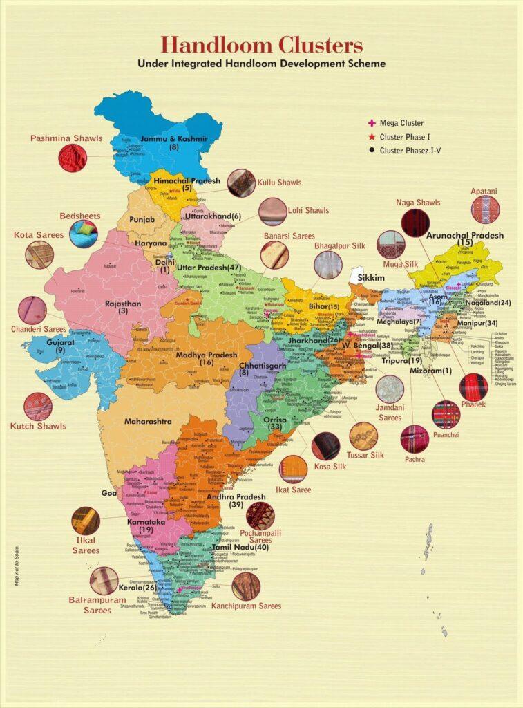 Indian Handloom Map