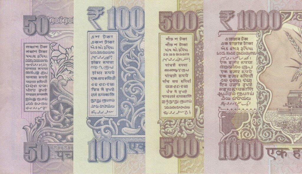 Languages on the Indian Currency