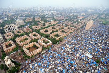 Image of Dharavi, Asia's largest slum. Dharavi has minted several millionaires