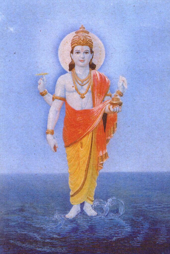 Lord Dhanvantari Hindu God of Medicine