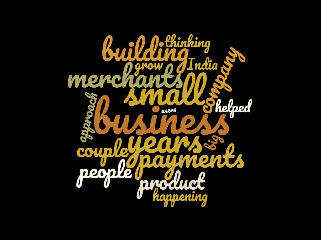 Word Cloud for The Episode 8:Akash of Instamojo: Scaling to a Million Merchants